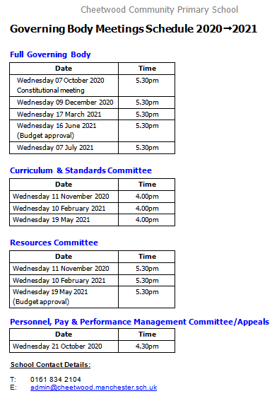 5 Meeting schedule pic